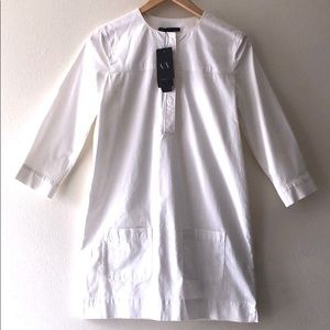 A|X Armani Exchange NWT White Midi Dress